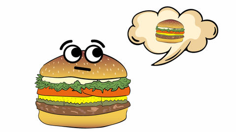 Cheeseburger thinks of itself Animation