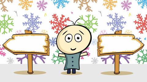 Choice and colorful snowfall Animation