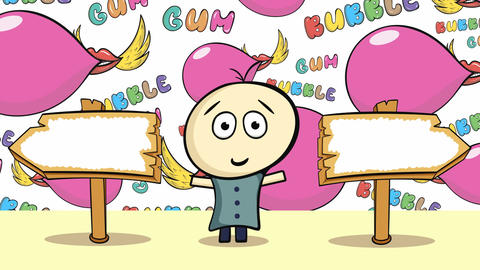 Choice and color chewing gums Animation