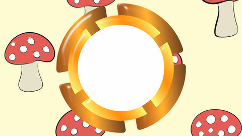 Empty icon and fly agaric Animation