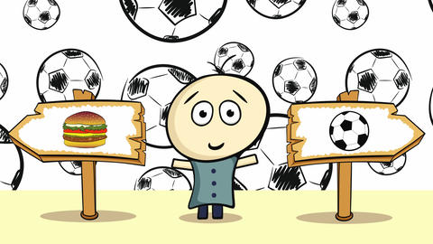 Choice with black soccerballs Animation