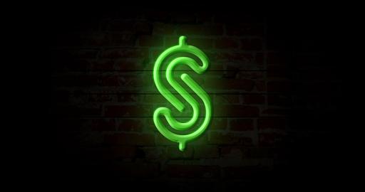 Dollar neon sign Animation