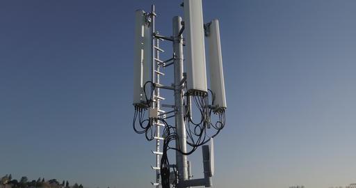 Telecommunication Antenna Sun Footage