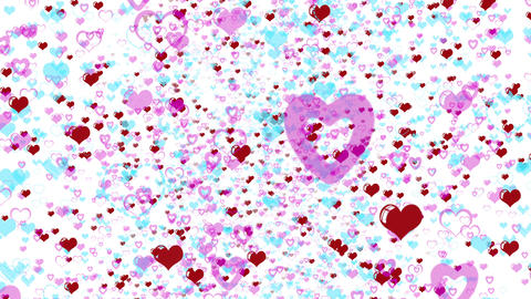 Love Hearts Background Valentines Day Stock Video Footage