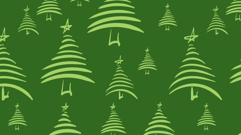 Green Christmas trees Stock Video Footage