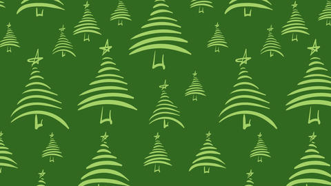 Green Christmas trees Animation