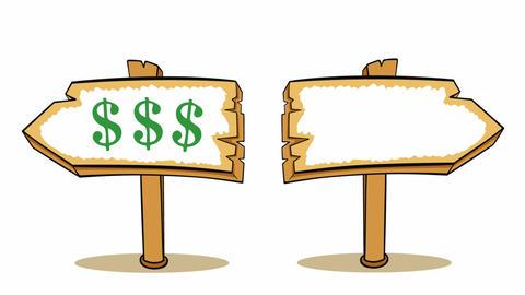 Way choice dollars or Animation
