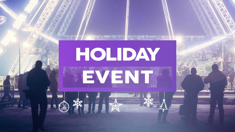 Holidays Event Promo After Effects Template