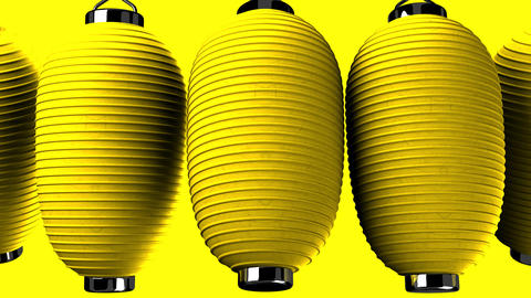 Yellow Paper Lanterns 2