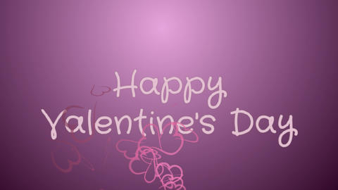 Animation Happy Valentine's day, greeting card Stock Video Footage