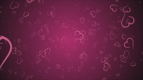 Animation hearts, no text, greeting card Footage