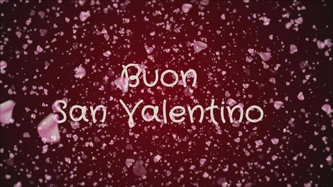 Animation Buon San Valentino, Happy Valentine's day in italian language Footage