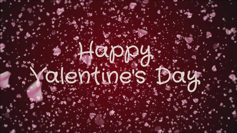 Animation Happy Valentine's day, greeting card Footage