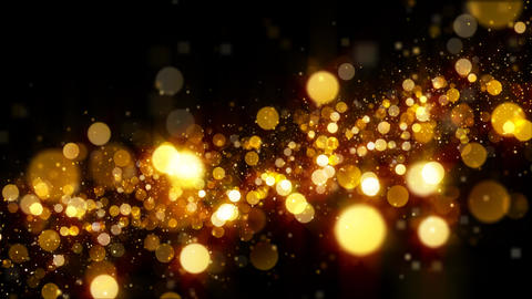 Golden Glitter Particle Background Animation Loop Diagonal Upward Animation