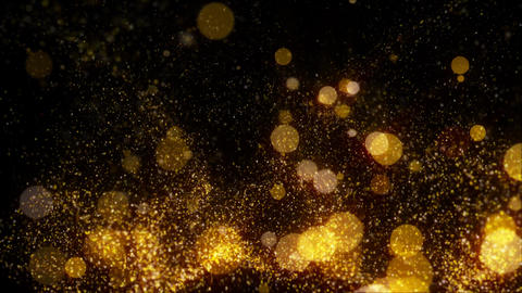Golden Glitter Particle Background Animation Loop Turbulent Animation