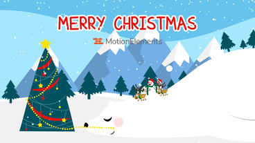 Neo Christmas Snowman After Effects Template