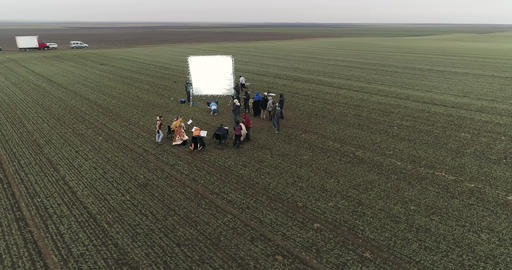 Film Crew In The Field 1