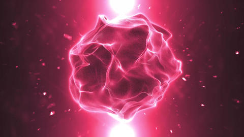 Organic Plasma Sphere Background Loop Animation