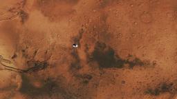 Mars Spaceship from Orbit Animation