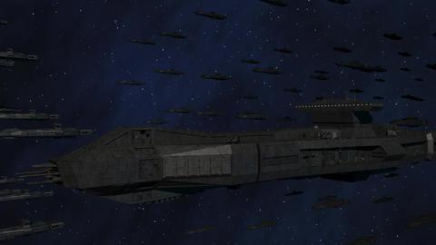 Space Opera: Large Battleship Armada Animation