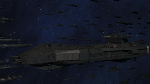 Space Opera: Large Battleship Armada stock footage