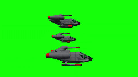 Space Opera: Alien Space Fighter Squadron (Green Screen Loop) Animation