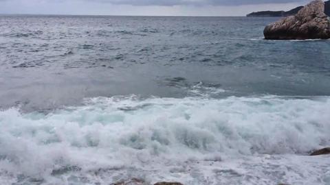 Sea waves breaking Footage