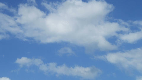 movement of cirrus clouds on a blue sky Footage
