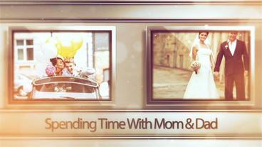 Golden Wedding Memories After Effects Project