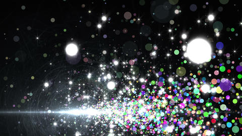 Lens Flares and Particles 16 T2 4K, CG動画素材