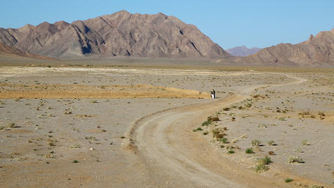 In Iran Desert And Mountin 008 stock footage