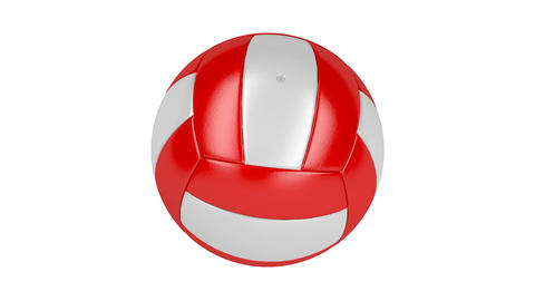 Volleyball ball spin on white Animation