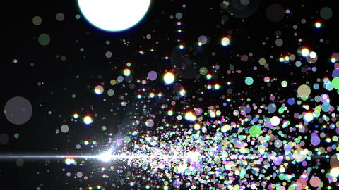 Lens Flares and Particles 16 H2 4K CG動画