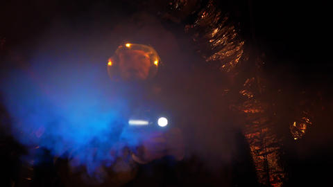 scifi scene man in hazmat gear Footage