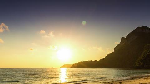 Sea sunrise time lapse Footage