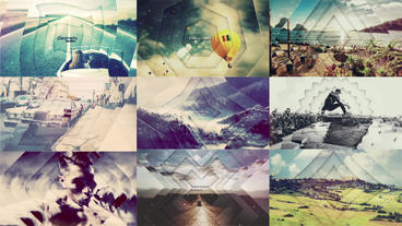Geometry Parallax stock footage