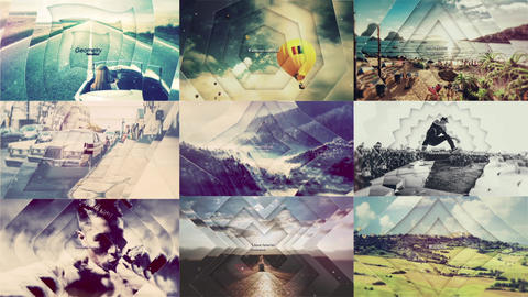 Geometry Parallax After Effects Template