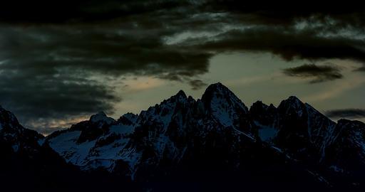 4K, Time Lapse, Epic Doomy Clouds Above High Tatra Mountain Range, Slovakia Footage