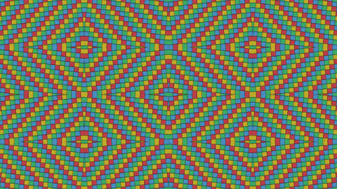 Kaleidoscopic Shapes Rhombus Colorful Seamless Looping… Stock Video Footage