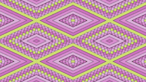 Kaleidoscopic Shapes Stripes And Rhombus Colorful Seamless Looping Backgrounds Set 2