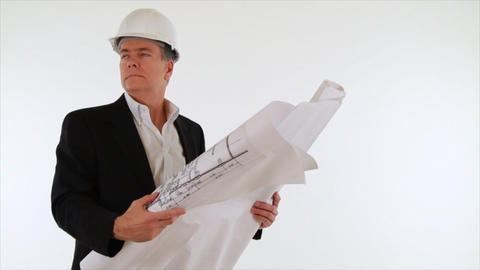 architect going over plans Footage