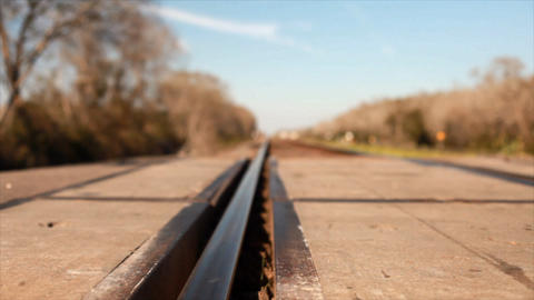 dolly railroad tracks Footage