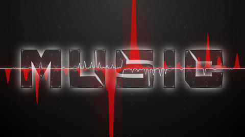 Audio waveform (Text MUSIC font 1) Animation