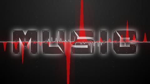 Audio waveform (Text MUSIC font 1) Animation