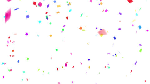 Confetti colorful background white CG動画