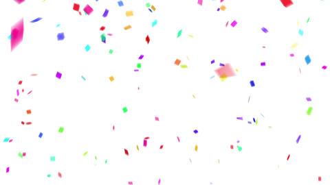 Confetti colorful background white Animation