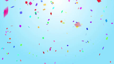 Confetti colorful background sky CG動画