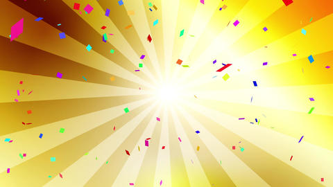 Confetti colorful radial gold CG動画