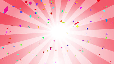 Confetti colorful radial red CG動画