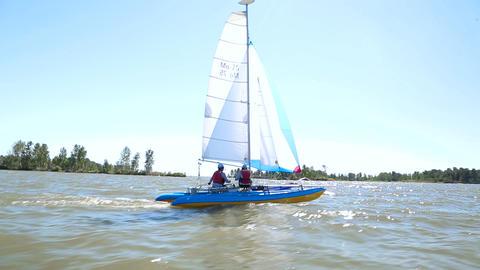 Yachts participate in the regatta 011 영상물